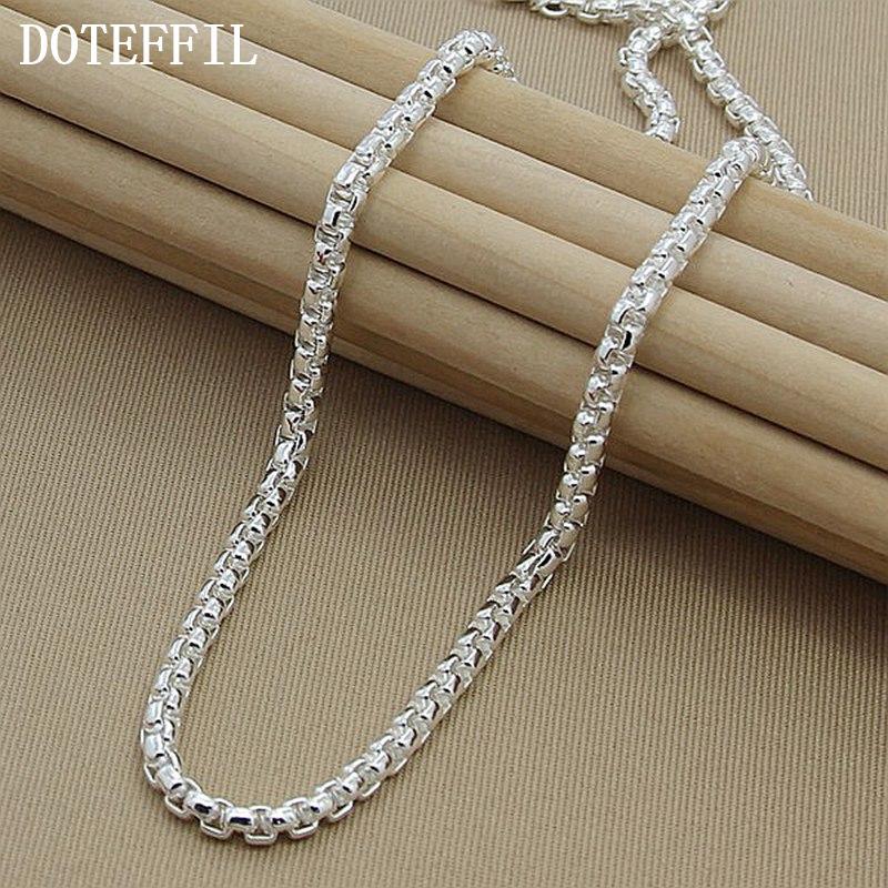 Colar de colar de prata colar 925 prata moda esterlina jóias cadeia de link