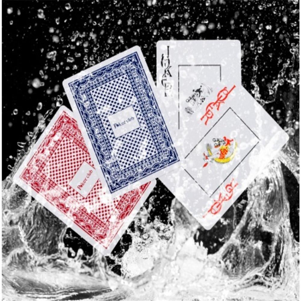 Горячие Продажи Прочный Водонепроницаемый Покер Пластиковые Игральные Карты Покер Набор Забавная Настольная Игра Игрушка Baralho Для Взрослых Партии Игры Случайный Цвет