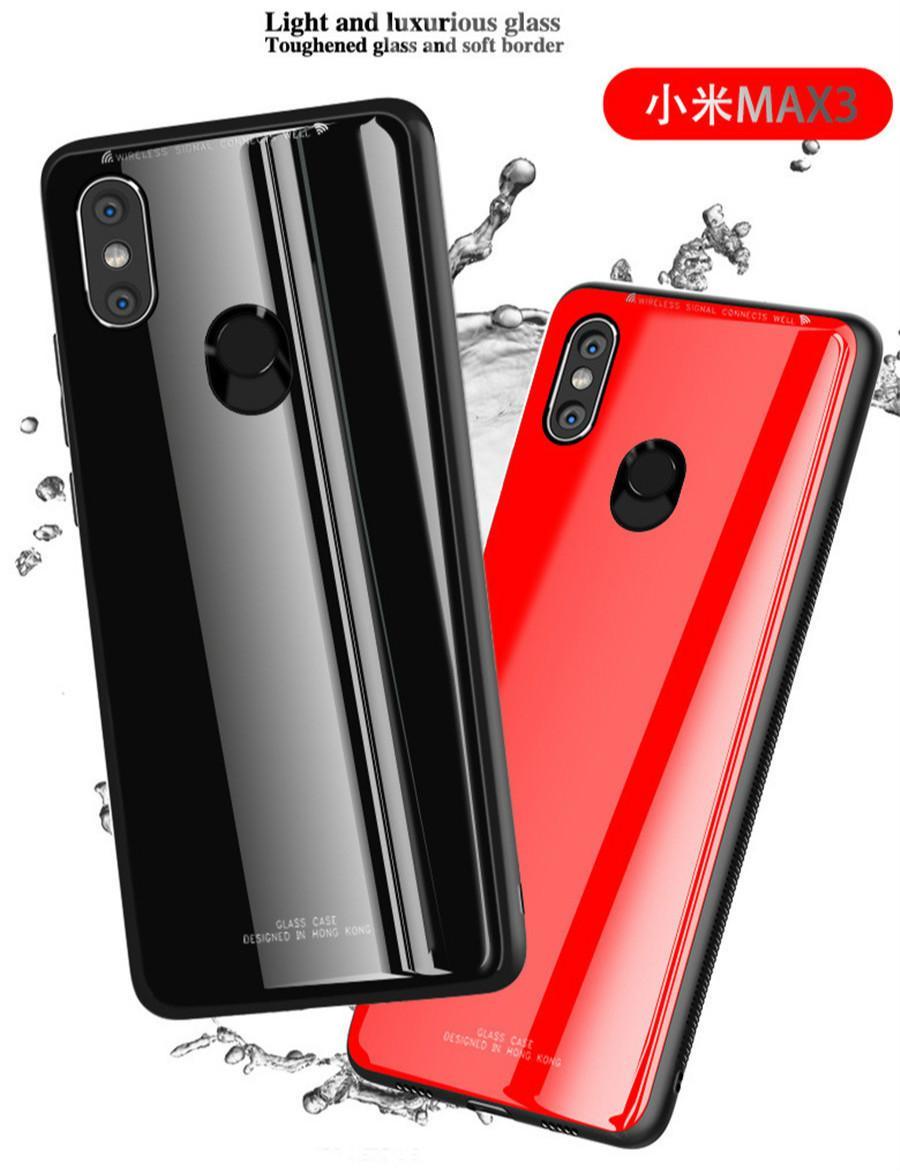 Mi Max 3 6.9 '' Vidrio templado 9H cubierta completa para Xiaomi Mi Max3 Ultra delgado ultra suave silicona TPU Funda Capa Casos