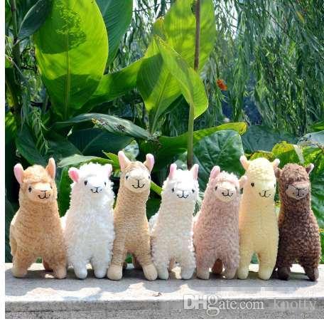 جميل 23 سنتيمتر الأبيض الألبكة اللاما أفخم لعبة دمية الحيوان دمى محشوة الحيوان اليابانية لينة القطيفة alpacasso للأطفال هدايا عيد