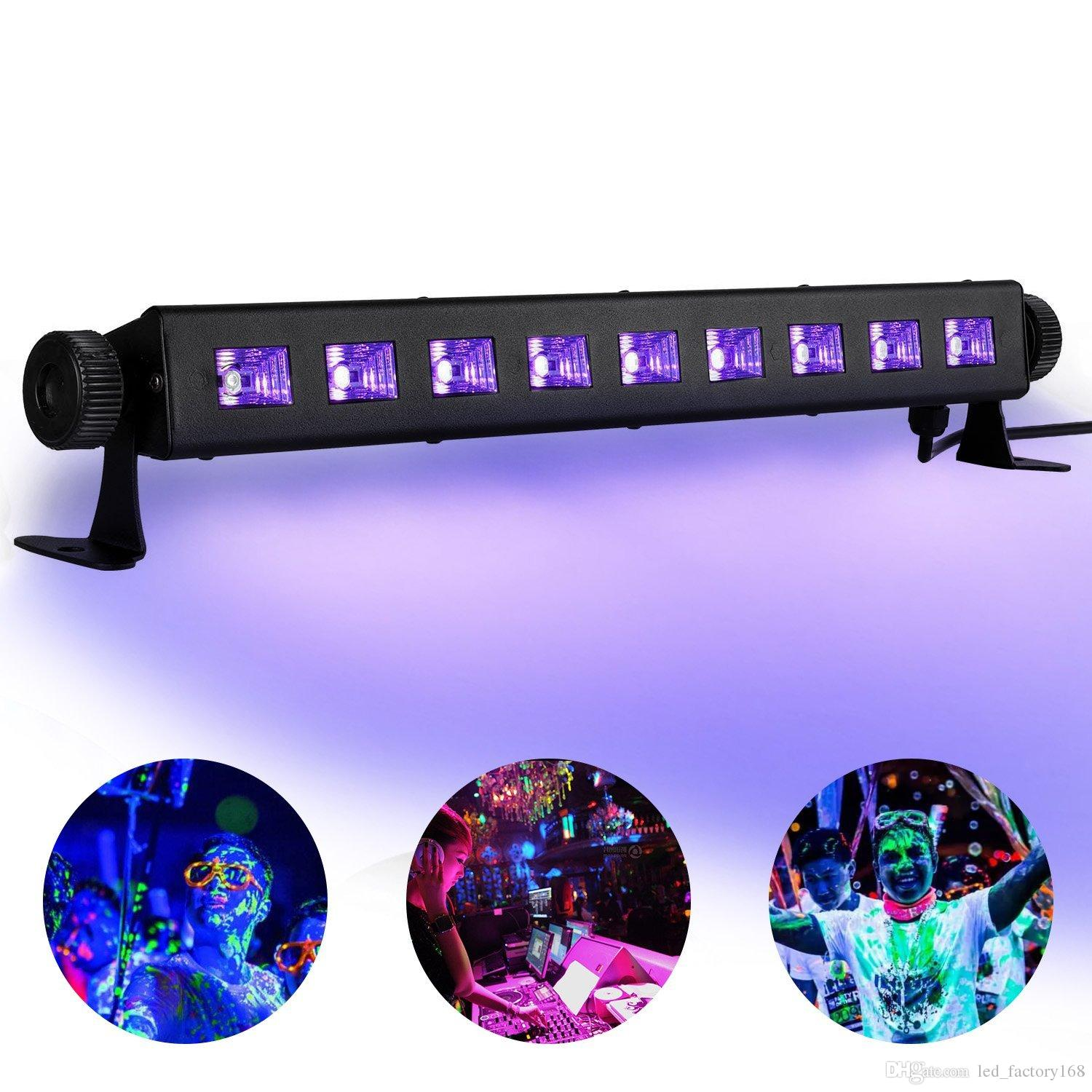 Hot Sale UV LED lights UV LED Bar with 9LEDx3W Black Light, Neon Clow Parties Fluorescent Tapestry Poster Paint Lighting DJ Stage
