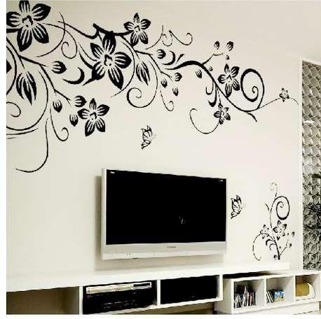 La decorazione calda della parete della decorazione della decalcomania di arte della parete della decorazione della decalcomania di arte del fiore di DIY / della decorazione domestica domestica degli autoadesivi della parete 3D libera il trasporto