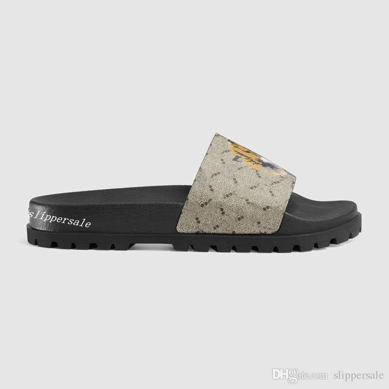 mens fashion tiger print trek slide sandals flip flops with Shaped insole and Treaded rubber sole