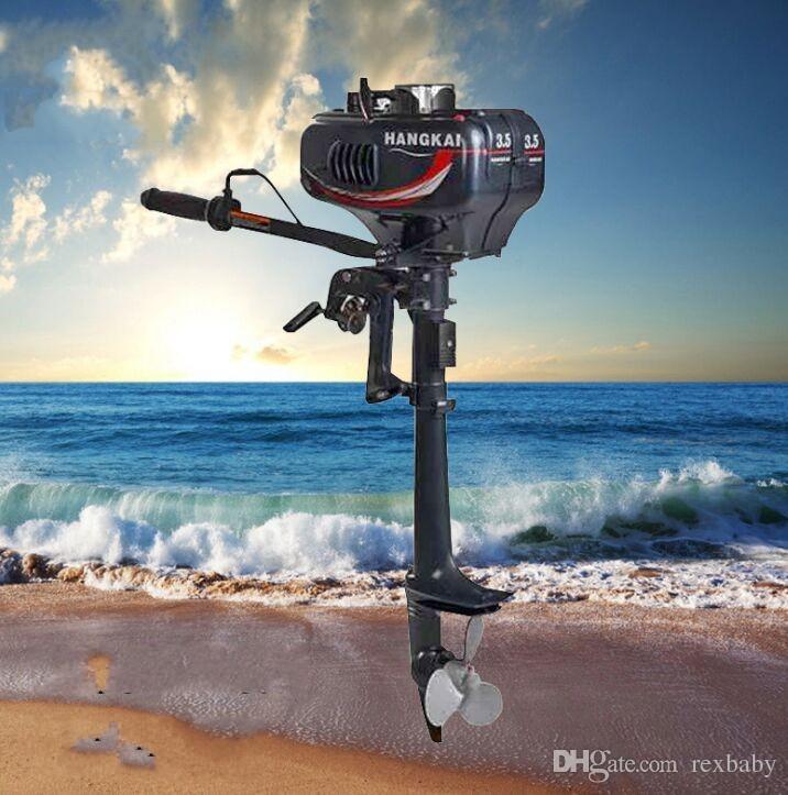 Обновленный 3.5 HP подвесной мотор 2-тактный лодочный двигатель с водяным охлаждением 40LBS 2.5 KW троллинг тяга Рыбалка