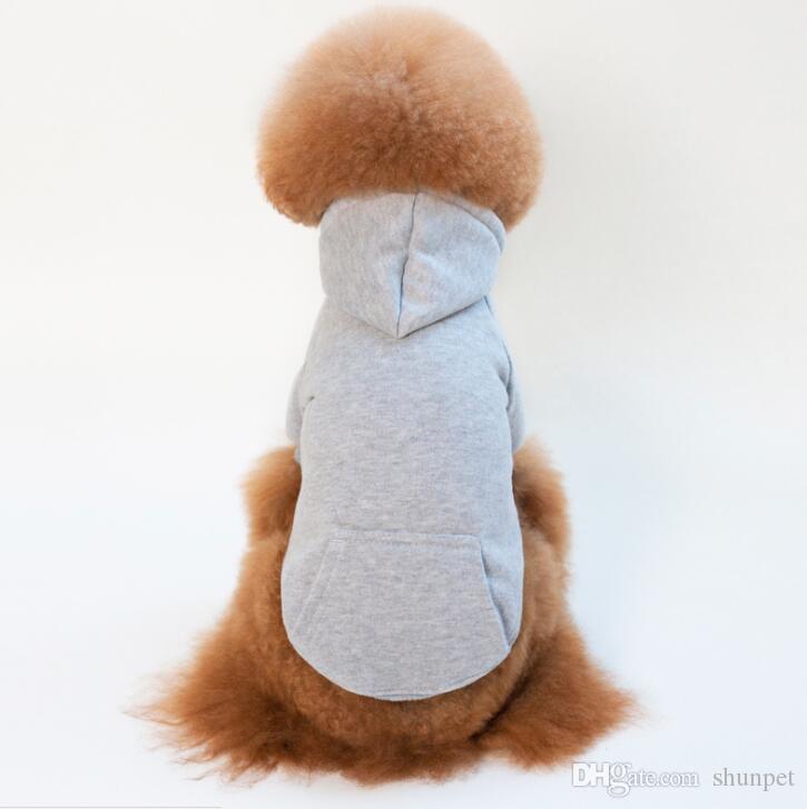 Casual Pet Sweatshirt Hoodie Perro Perro Ropa para Pequeño Pet Pet Apparel Botón Perrito Productos para Otoño Invierno Fre