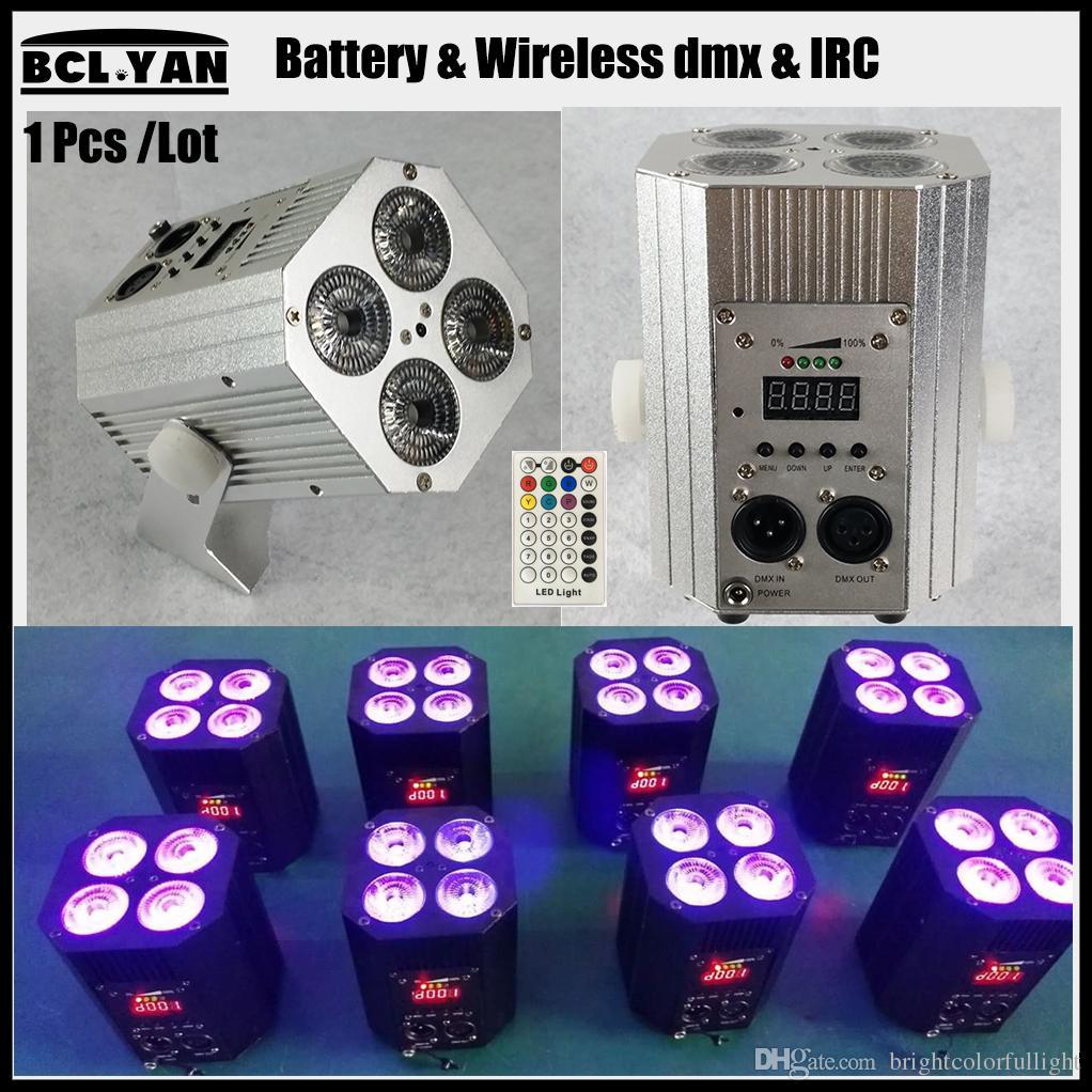 Hot sale new cheap Mini led par light with remote 4pcs 18w RGBWA UV Wireless DMX Stage Lighting for wedding backdrop decor
