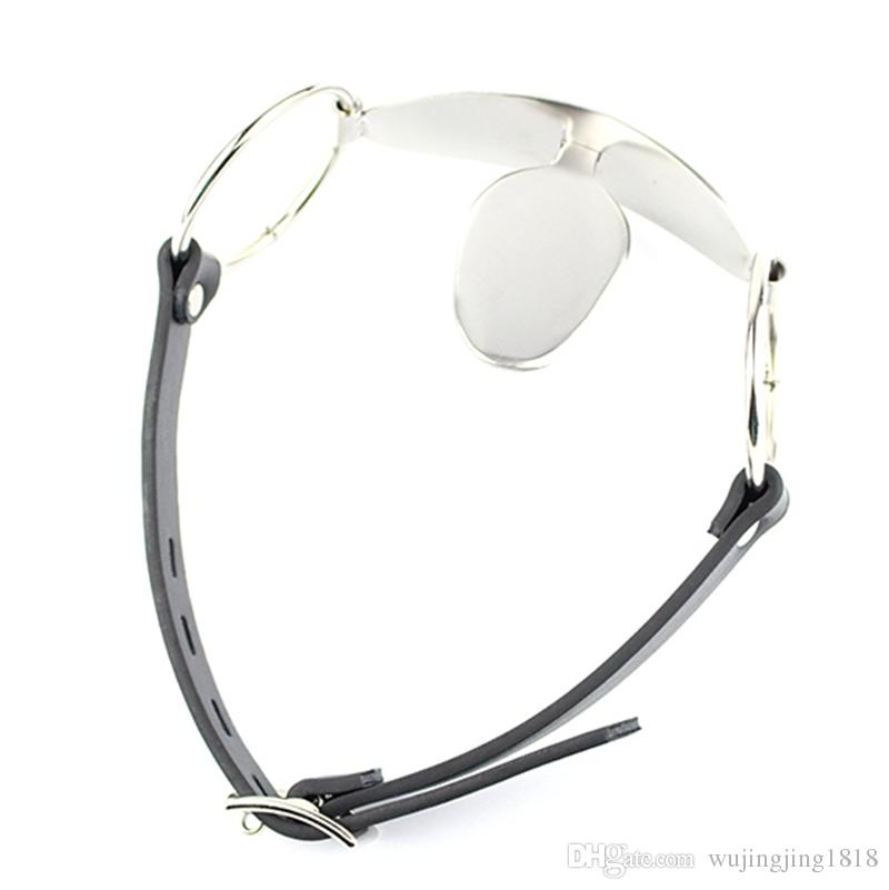 Stainless Steel Tongue Type Mouth Gag Sex Products Fix Tongue Cangue Bondage Slave Trainer Adult Games BDSM Fetish Sex Toys For Couples