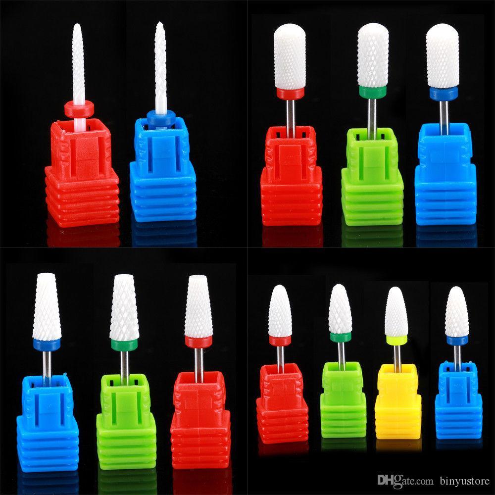 Hot sale 1 PCS Electric Cylinder Ceramic File Drill Bit Nail Art Manicure Pedicure Tool 3/32''