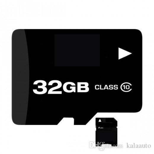 100% Real capacity 4GB 8GB 16GB 32GB Class 6 Memory Card + Free SD Adapter + White Plastic Storage Case Epacket Free Shipping