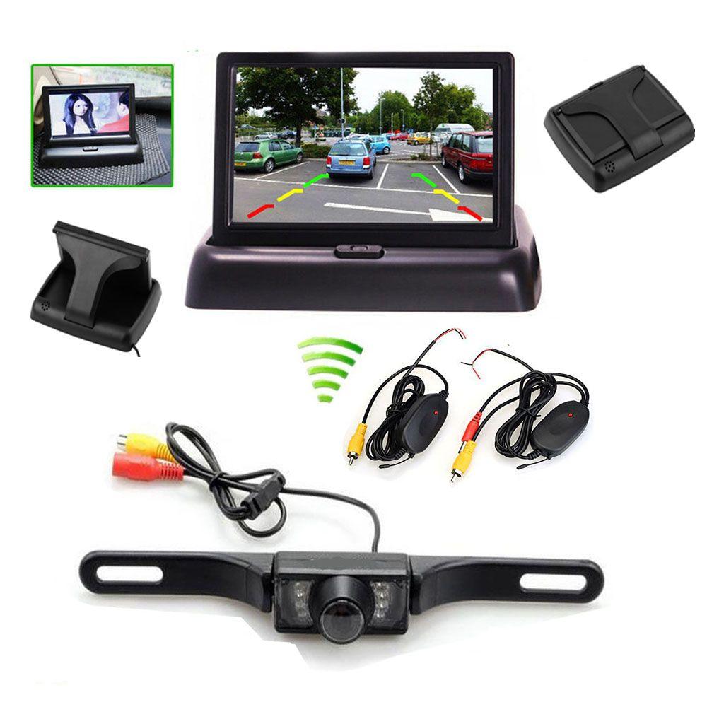 """4.3/"""" TFT LCD Folding Foldable Monitor Car Reversing Camera Waterproof Rear ##"""