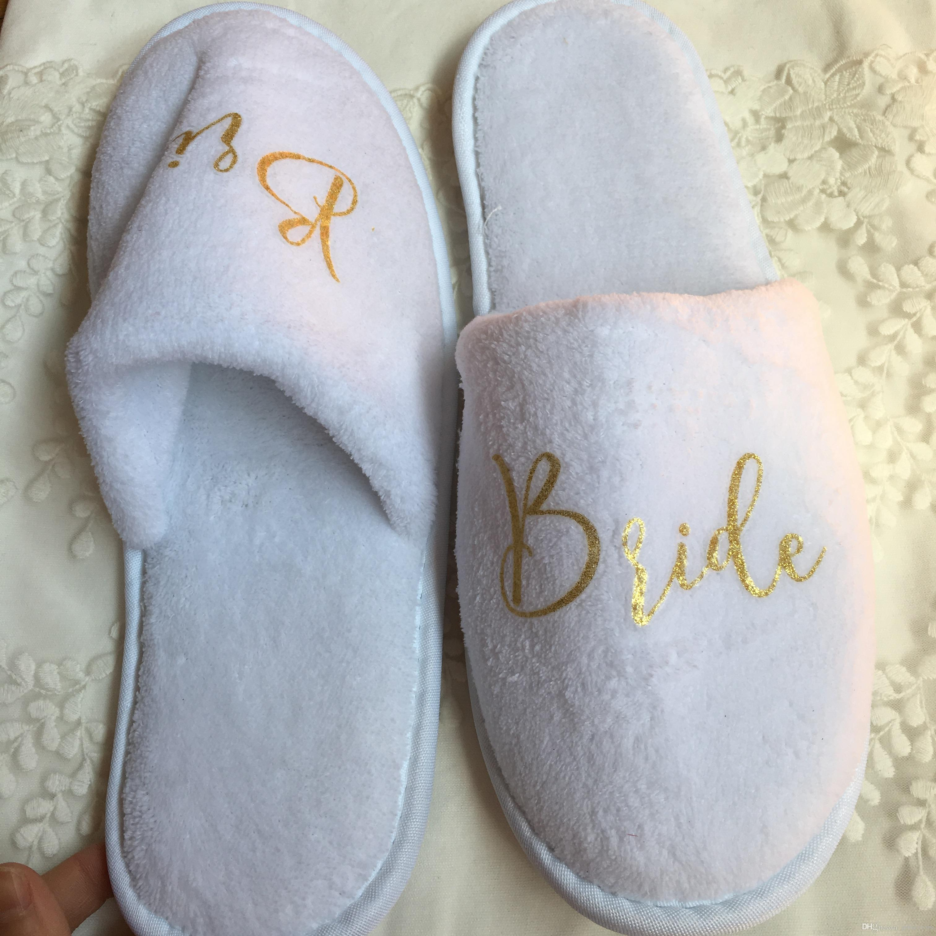 b10eb246980 White Red Wedding Slippers Bride Be To Hen Party Favors Bridesmaid Gifts  Wedding Favor Stickers Make Wedding Favors From Giftsfavors, &Price;| ...