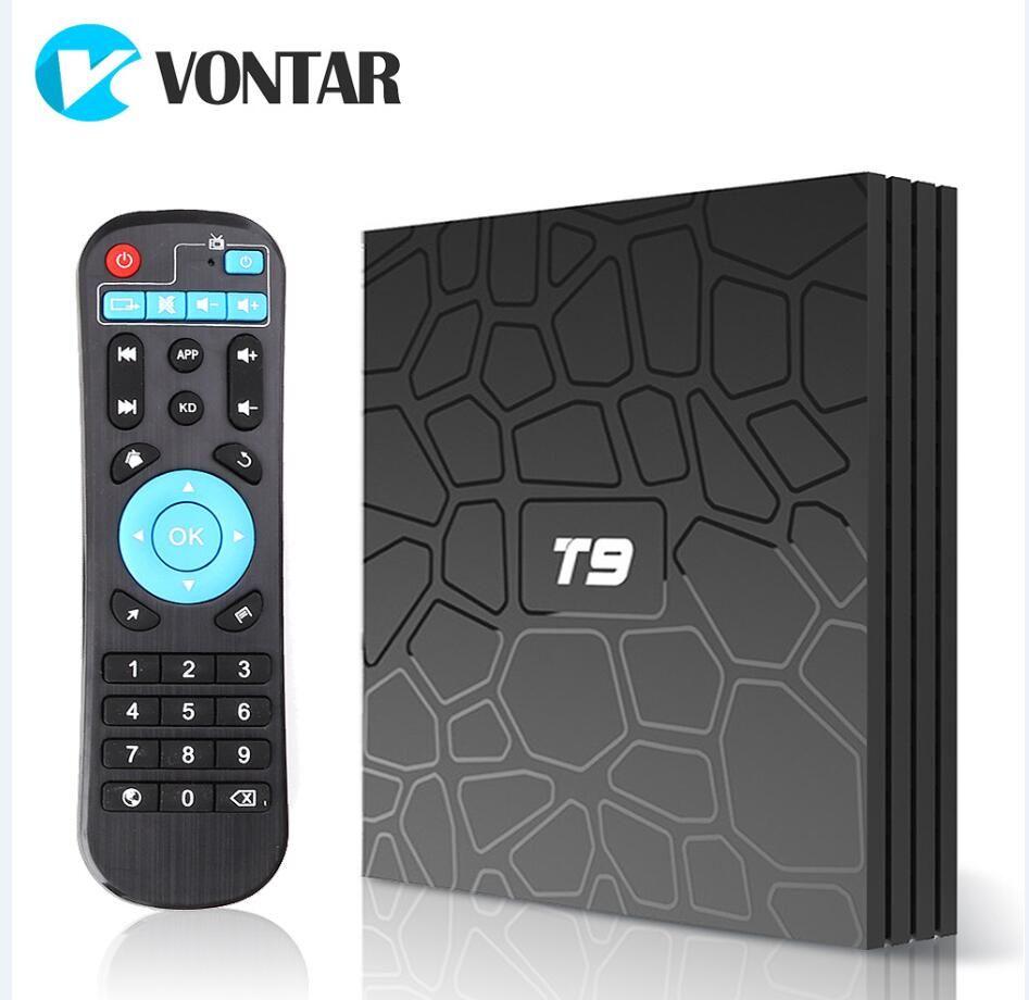 T9 4GB+32GB//4GB+64GB Android 8.1 TV BOX RK3328 Quad Core USB BT WiFi 4K 3D Media