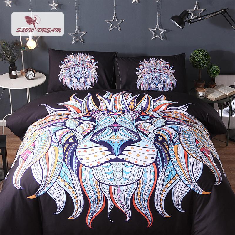 Slowdream Bohemian Bedding Set Comforter Bedspread Duvet Cover Pillow Case AUDouble King Size Adult Bed Linen Set Bedclothes