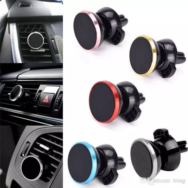 Universal Air Vent Magnetic Mobile Phone Holder For iPhone X 7 6 Samsung S8 Magnetic Car Holder With Retail Package