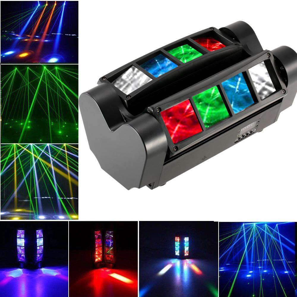 90 W LED Mini Spider Stage Light RGBW DMX512 Aktywowany dźwięk 7/13 Kanały LED Ruchome Head Light for Disco KTV Club Party