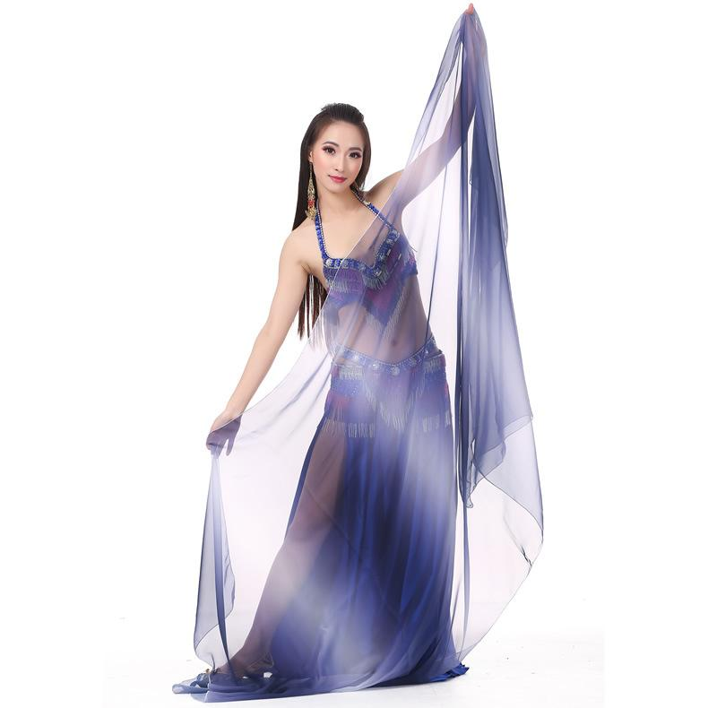 Wholesale 6pcs Chiffon Shawl Veil Scarf multi-use 250x120cm Belly Dance Costumes