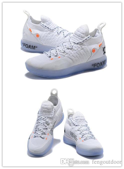 2018 Basketbol ayakkabıları All Star Siyah Beyaz BHM Üniversitesi Red City Serisi En kaliteli KD 11 erkekler basketbol ayakkabı Sneakers e ...