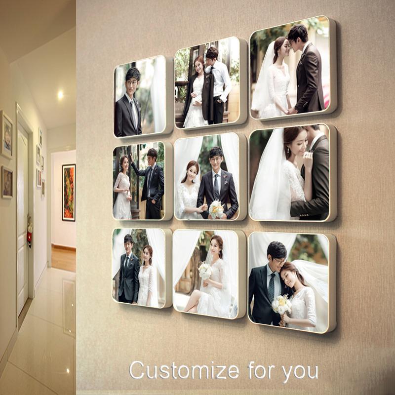 الإبداعية مخصص جدار ورق الحائط مزيج شنقا إطار غرفة المعيشة غرفة نوم صور