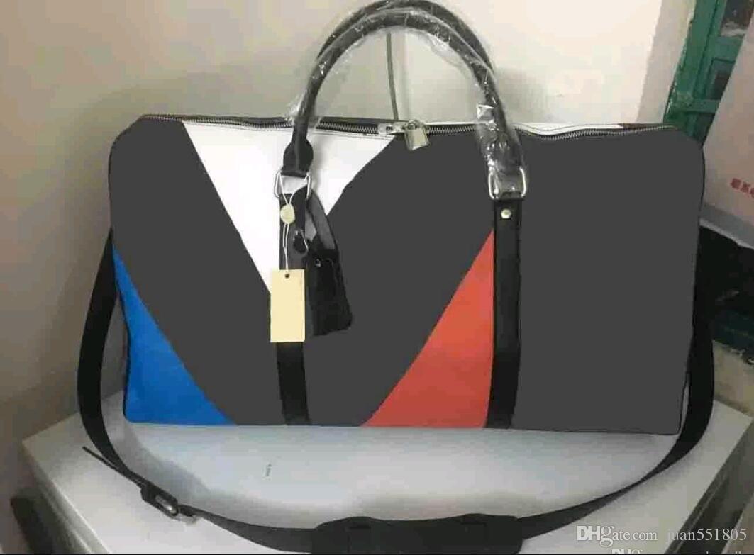 Brown noir nouveau mode hommes femmes sac de voyage sac de sport, marque designer bagages sacs à main grande capacité sport sac 60 CM