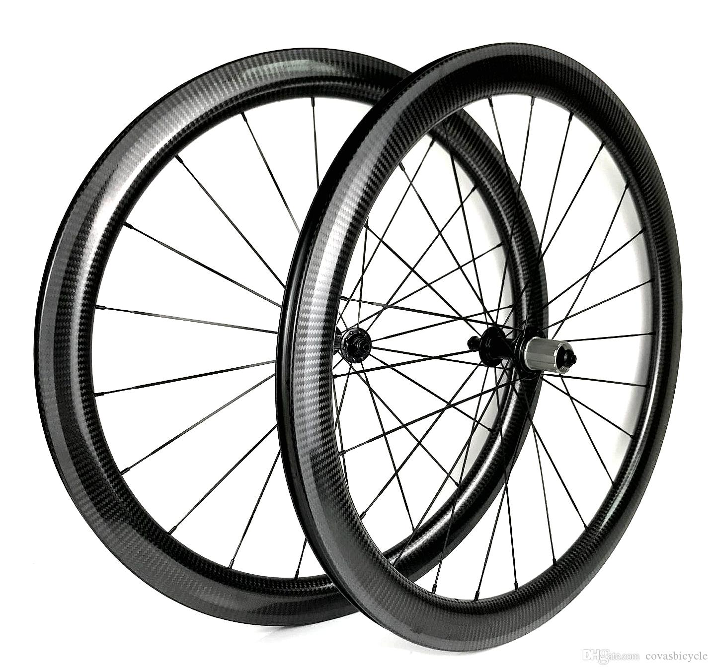 Free shipping 700C road full carbon wheels 25mm width 50mm depth clincher/Tubular Road bike carbon wheelset with Powerway R13 hubs