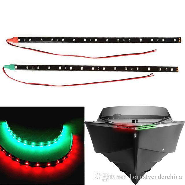 """2018 Nuovo 4x 12 pollici Navigazione per auto per auto 15 LED Ligh tRed Green 12 """"Impermeabile Marine LED Strips"""