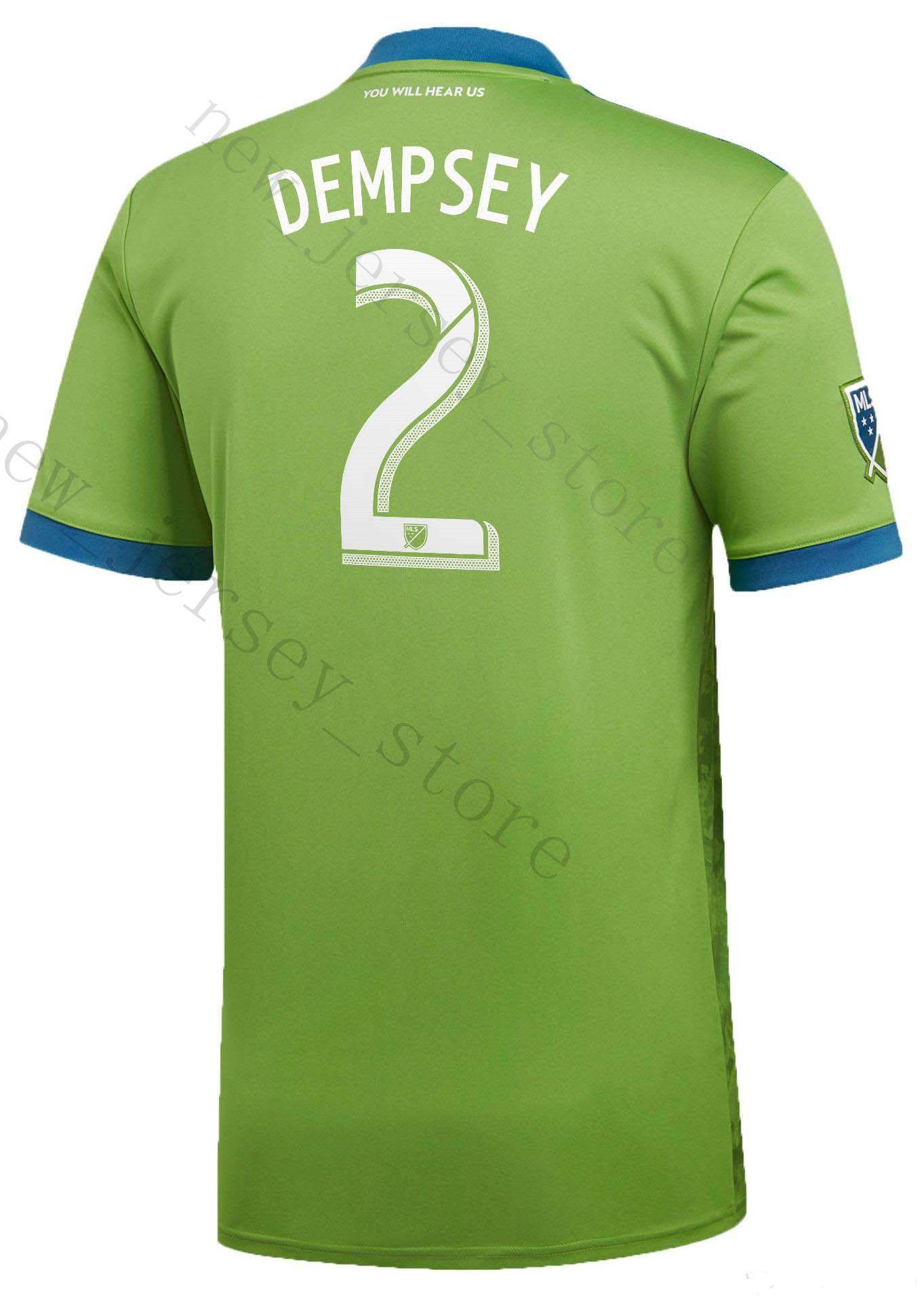 c8ba2bd4f 18 19 Seattle Sounders FC Soccer Jerseys 2 DEMPSEY 13 MORRIS 10 LODEIRO  MARTINS ALONSO 29 TORRES 7 ROLDAN Customize Green Football Shirt UK 2019  From ...