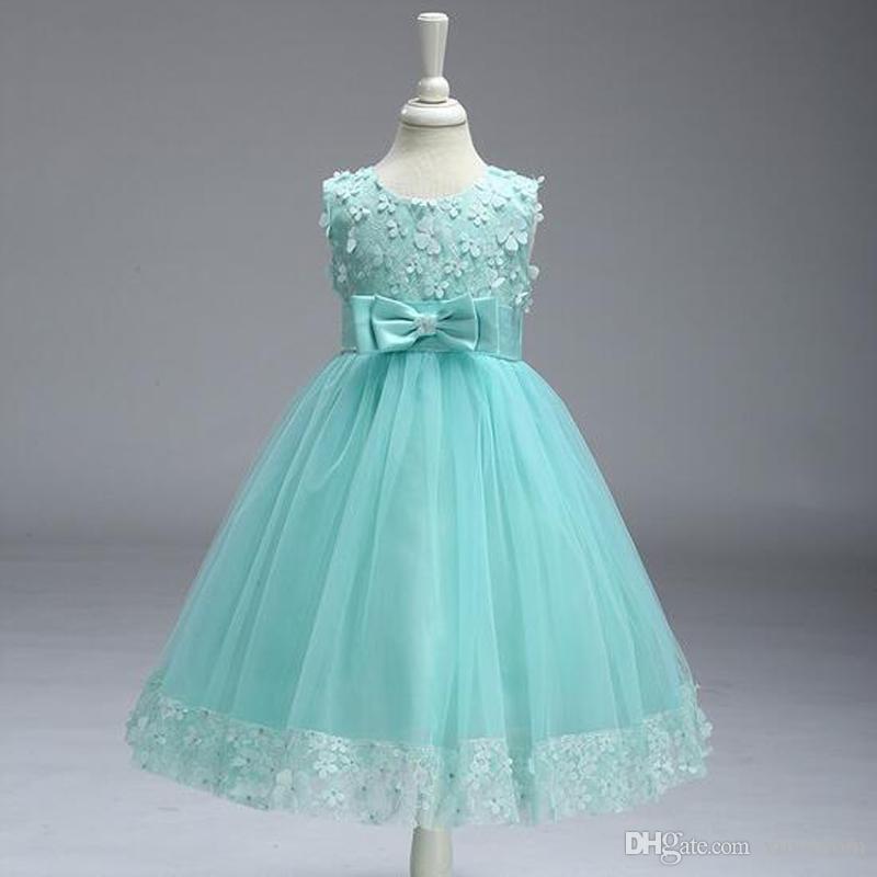 ragazza abito da sposa ragazza abbigliamento per bambini principessa festa bambino bambini ragazze abiti da sposa vestiti adolescente abito da promenade costume ragazza di fiori