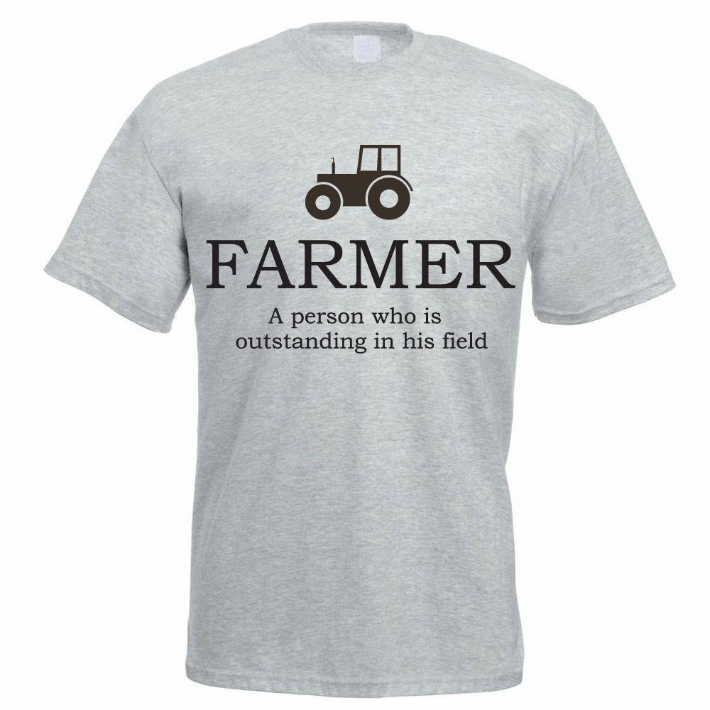 The Best Farmer Is Outstanding In His Field TShirt T-Shirt Tee Pun Agri Farm Fun