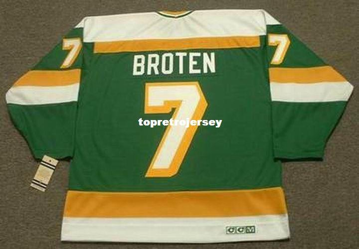 Wholesale Mens NEAL BROTEN Minnesota North Stars 1981 CCM Vintage Cheap Retro Hockey Jersey