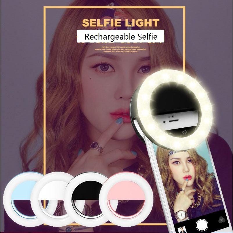 유니버셜 충전식 Selfie 휴대용 Led 카메라 전화 사진 링 라이트 아이폰 X 8 7 6 5 사진 촬영을 강화하는 삼성 xiaomi