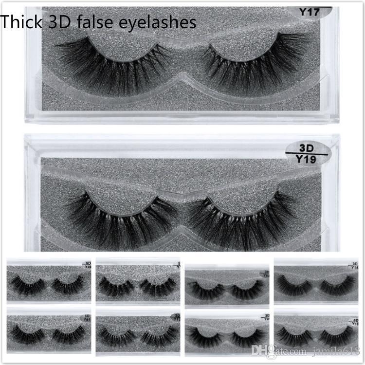 Wholesale NO Logo 3D Mink Eyelashes Natural Long Thick Handmade False Eyelashes set Makeup Fake Eye Lashes EyeLash Extension 1 pair