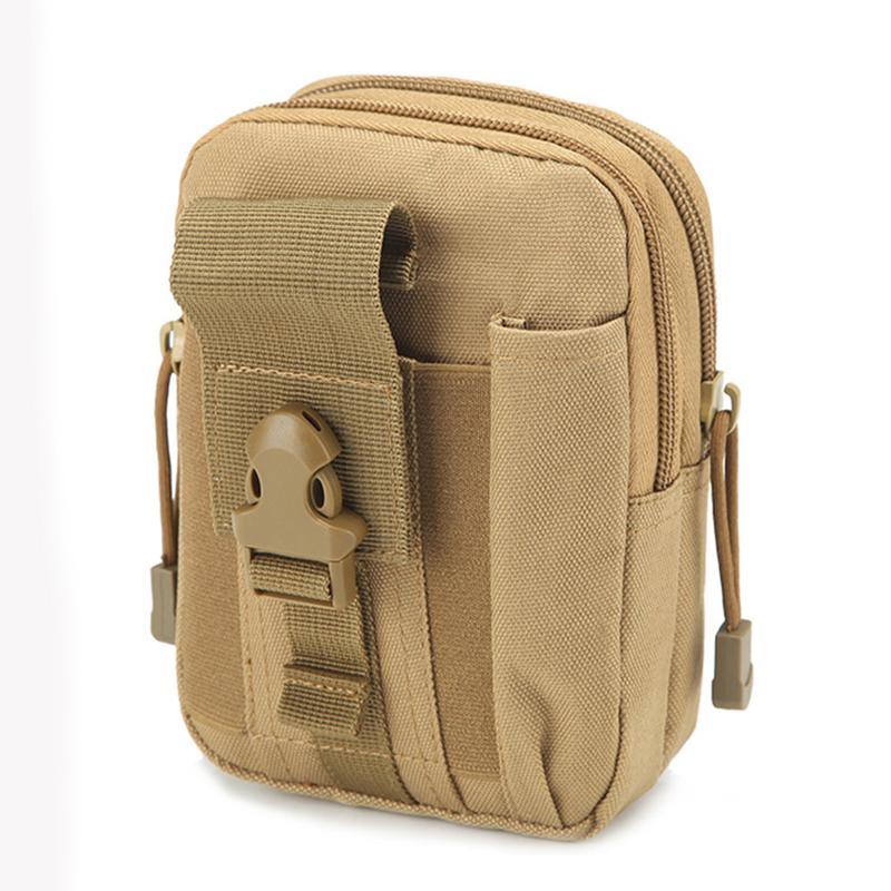 Hommes Assault Fanny Taille Pack Ceinture Cigarette Case Militaire Hip Bum Sacs D'argent Durable Petit Nylon 5.6 '' Cell / Mobile Phone Bag