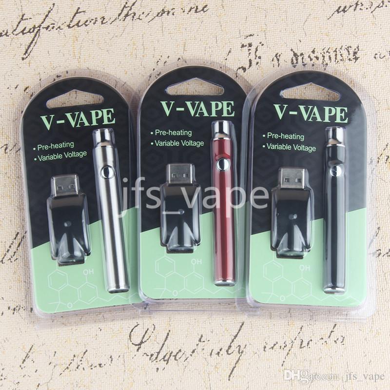 VAPE KIT LO Variable Spannungsstiftbatterie 510 Thread 350mAH Riesige Kapazität CE3 o Elektronisches Rauchen Glas Vorheizen