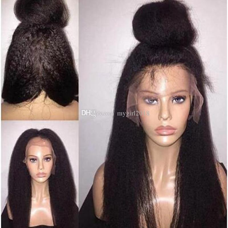 Full Lace Synthetic Wigs Italian Yaki Kinky
