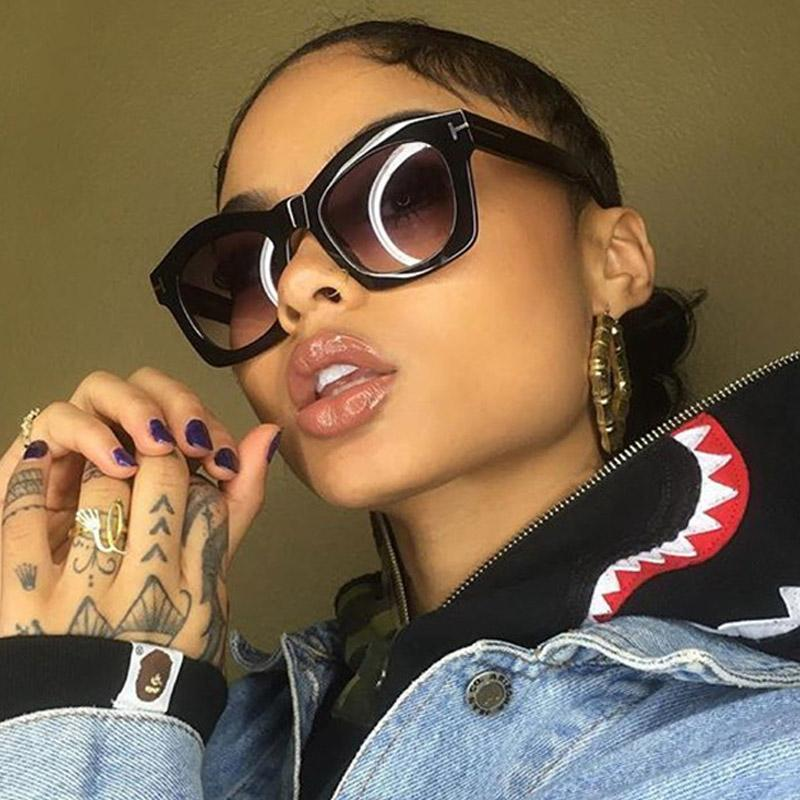 Brand Designer Cat Eye Occhiali da sole Donna Vintage Donna Gradient Outdoor Cateye Occhiali da sole Oculos feminino TF 2017