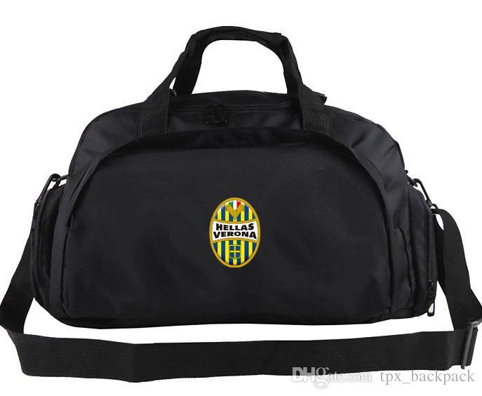 Sac de sport Hellas Verona Sac à main avec logo du club Sac à dos pour équipe de football Sac de sport pour joueur de football Sac à bandoulière Sport sac à bandoulière Emblème