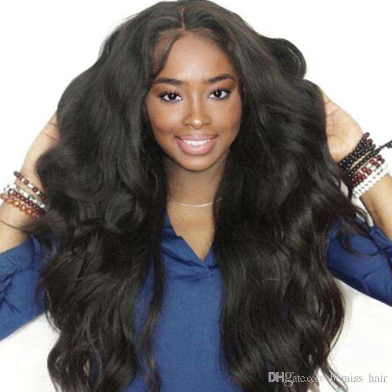 Brazilian Virgin Hair Body Wave Human Hair Lace Wigs Unprocessed Body Wave Lace Front Wigs Preplucked with Baby Hair Natural Color by Bemiss