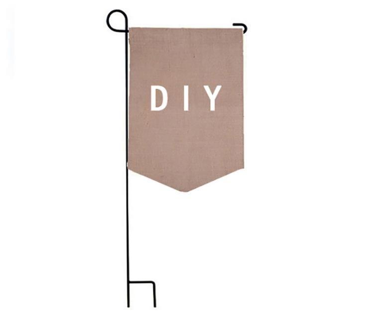 DIY Jute Burlap Garden Drapeaux 12 * 18 Liene Yard Hanging Flag House Décoration Imprimé Portable Banner Ads