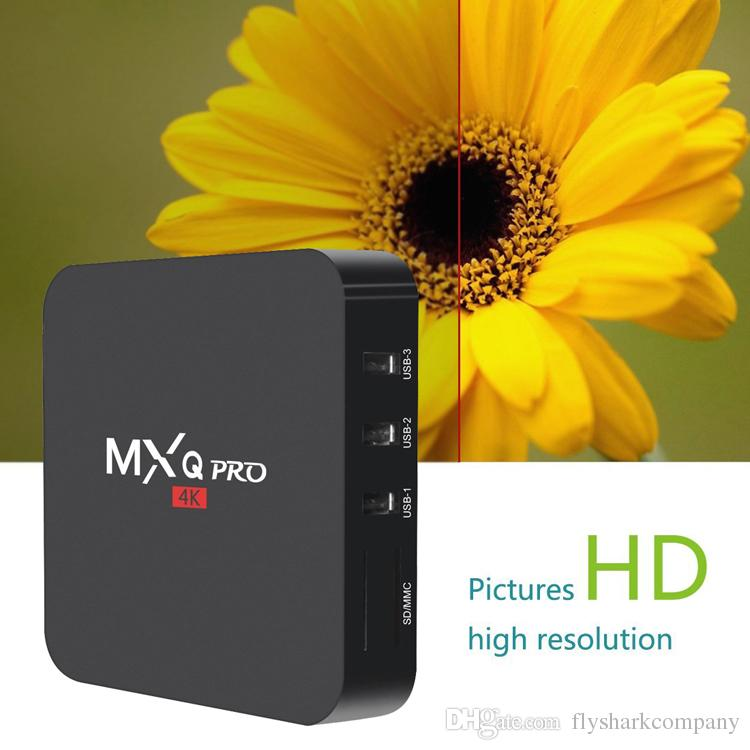 MXQ Pro Amlogic S905W Android 7.1 Smart TV Box 2.4G WiFi Better Than X96 TX3
