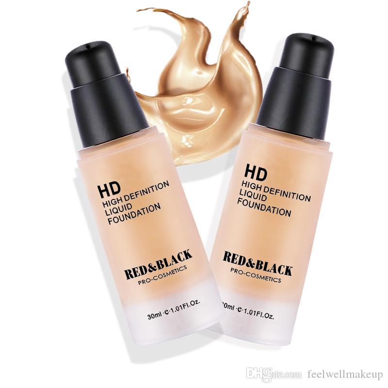 Base de base líquida de alta definición RedBlack HD Cuidado de la piel Brillo Nutrir Suave Piel base de larga duración maquillaje cosmético