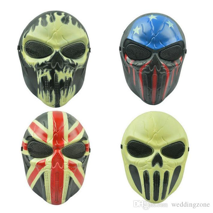 Baş Korku Masquerade Şefi Maskesi Tam Yüz PVC CS Maskesi Koruyucu Maske Cosplay Parti Cadılar Bayramı Için