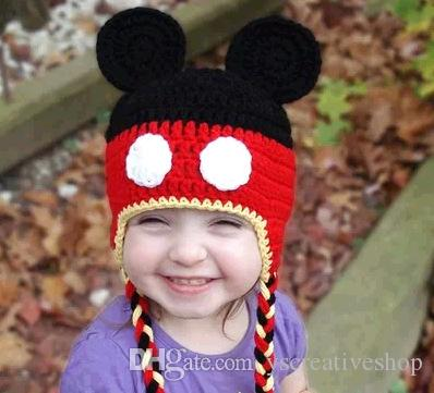 Hot Sales Caps for baby Baby wool hat cute handmade children wild knitted hat cartoon long hat