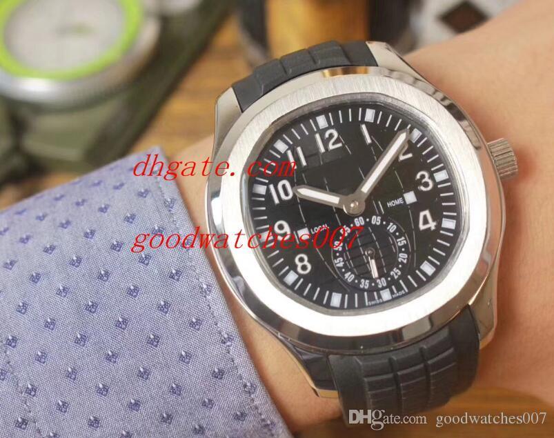 6 modelos Hermoso! Bandas correa de caucho Negro moda del reloj de la serie 5164A-001Automatic para hombre relojes del reloj AQUANAUT