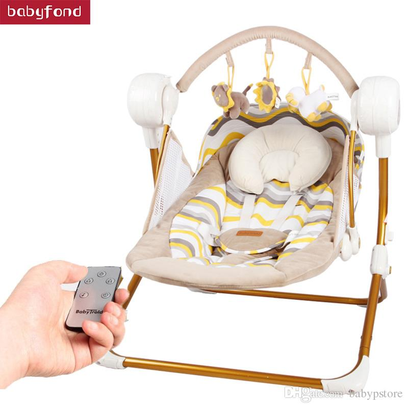 Peachy 2019 Primi Electric Baby Rocking Chair Child Swing Automatic Cradle Bed Placarders Baby Chaise Lounge Hanging Chair Baby From Babypstore 201 01 Machost Co Dining Chair Design Ideas Machostcouk