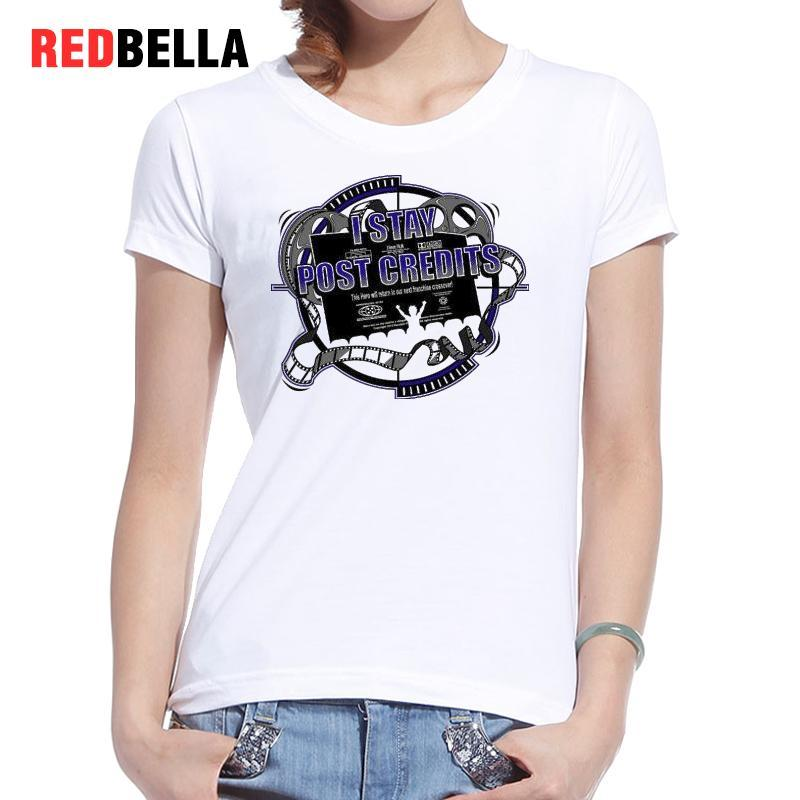 Kadın Tee Redbella Grafik Tees Kadınlar Marvel Filmler Vintage Tasarım Mektuplar Baskı Tshirt Harajuku Ulzzang Günlük Rahat Kadın Tops Satış