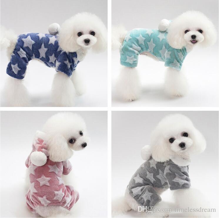 1 PCS dog costume soft coral fleece material pet clothes teddy poodle autumn winter warm dog apparel 5 size pet decoration