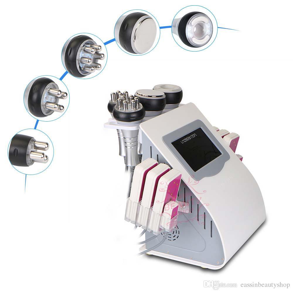 6 en 1 multifunción profesional de cavitación ultrasónica RF que adelgaza la máquina láser adelgazar máquina para uso doméstico