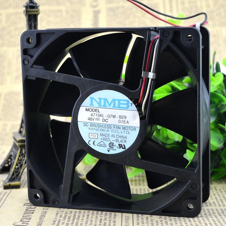 Para 4715KL-07W-B29 48V 0.26A Original Meiya NMB 120 * 38 ventilador do inversor de 3 fios