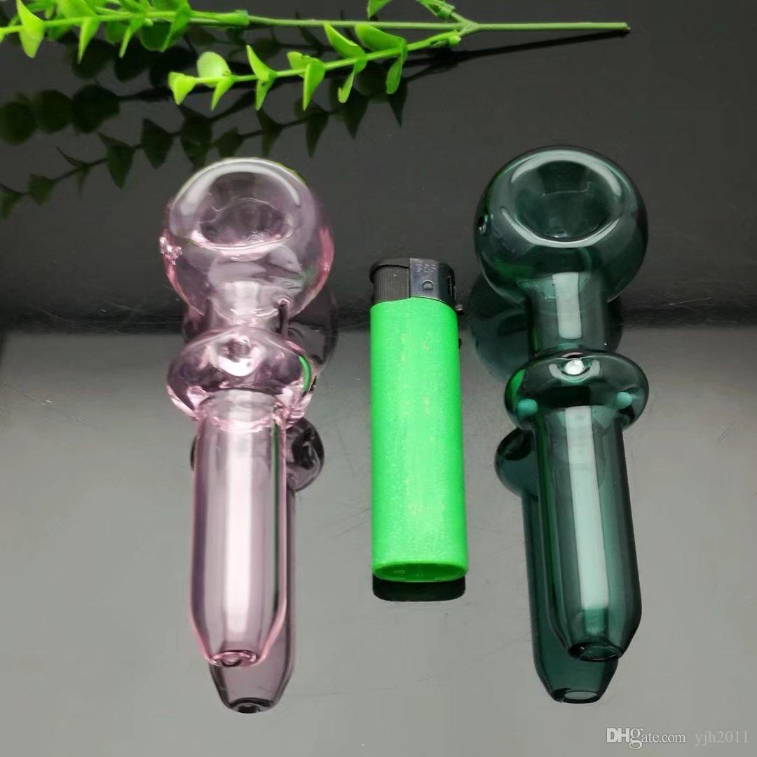 Moulin à ongles en titane de pipe de verre de Bbong Wwater de tuyau concave en verre souillé, Bubblers en verre pour des couleurs de mélange de pipe