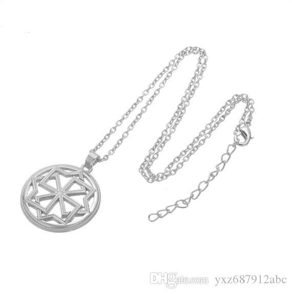 Valkyrie Symbol Pagan Amulet Urok Wisiorek słowiański Stary Styl Naszyjnik Goth Collares Rosyjska Biżuteria Darmowa Wysyłka